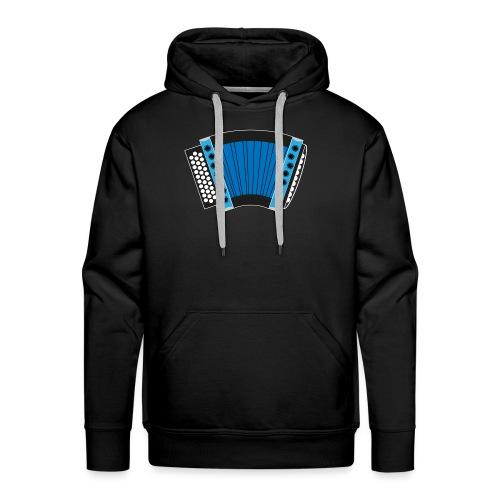 Schwyzerörgeli blau schwarzer Hintergrund - Männer Premium Hoodie