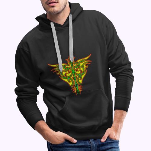 Pájaro de fuego maorí - Sudadera con capucha premium para hombre