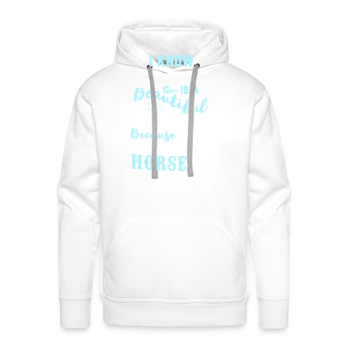 I know heaven is a beautiful place - Men's Premium Hoodie
