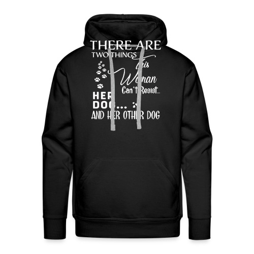 Her dog and her other dog shirt - Men's Premium Hoodie