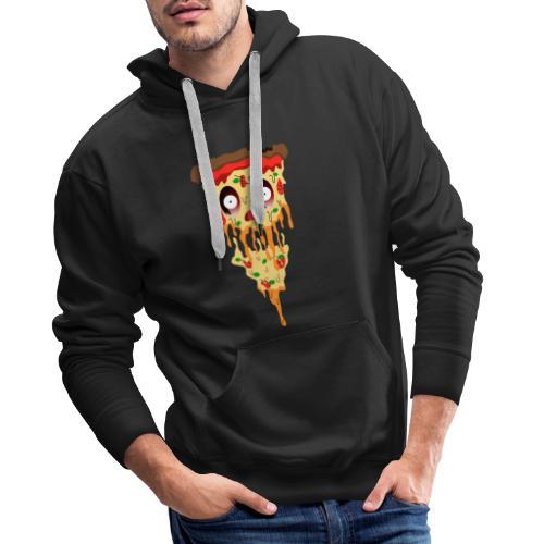 Schockierte Horror Pizza - Männer Premium Hoodie