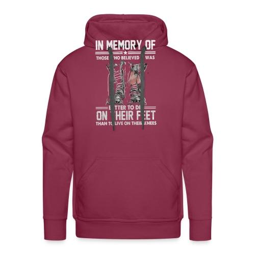 In memory of those who believed - Men's Premium Hoodie