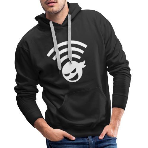 WiFi Ninja Symbol wlan Internet Verbindung - Männer Premium Hoodie