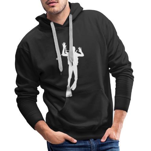 Taucher Silhouette Symbol Tauchen Urlaub - Männer Premium Hoodie