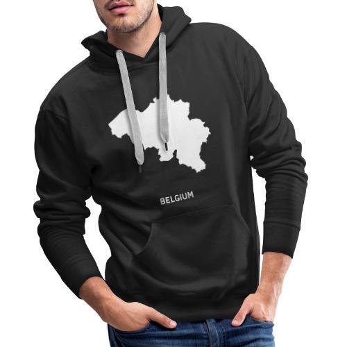 Europa Silhouette Symbol Belgien Land Staat - Männer Premium Hoodie