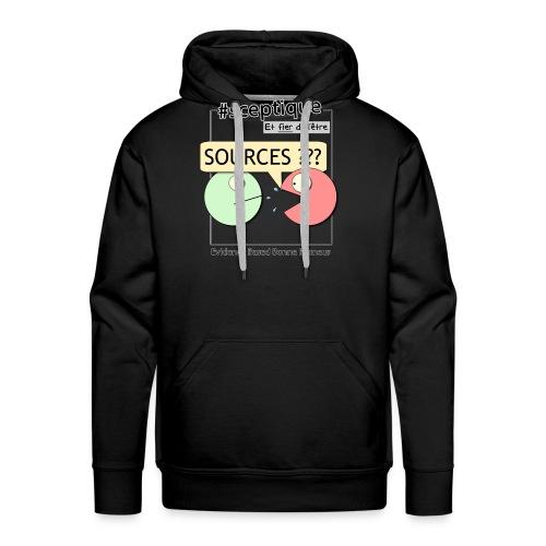 Sceptique et fier de l'être ! (Homme) - Sweat-shirt à capuche Premium pour hommes