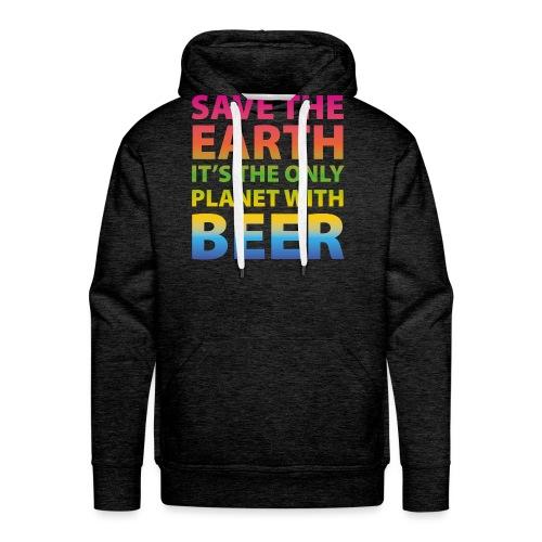 sauver la bière de la terre - Sweat-shirt à capuche Premium pour hommes