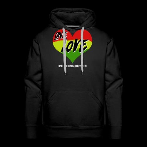 ONE LOVE - HEART - Männer Premium Hoodie