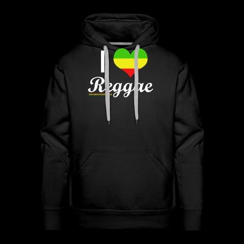 I LOVE Reggae - Männer Premium Hoodie