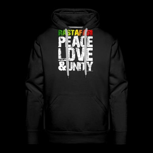 RASTAFARI - PEACE LOVE & UNITY - Männer Premium Hoodie