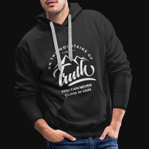 Montagnes Nietzsche ou vérité - Sweat-shirt à capuche Premium pour hommes