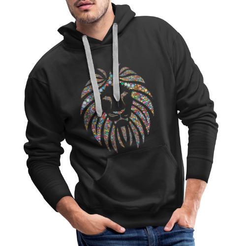 lion design - Sweat-shirt à capuche Premium pour hommes