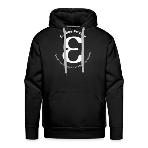 Exodus privacy avec Logo et slogan - Sweat-shirt à capuche Premium pour hommes