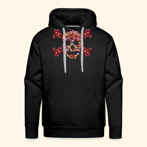 Crâne fleuri - Sweat-shirt à capuche Premium pour hommes