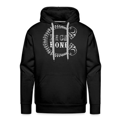 logo BlackBone blanc - Sweat-shirt à capuche Premium pour hommes