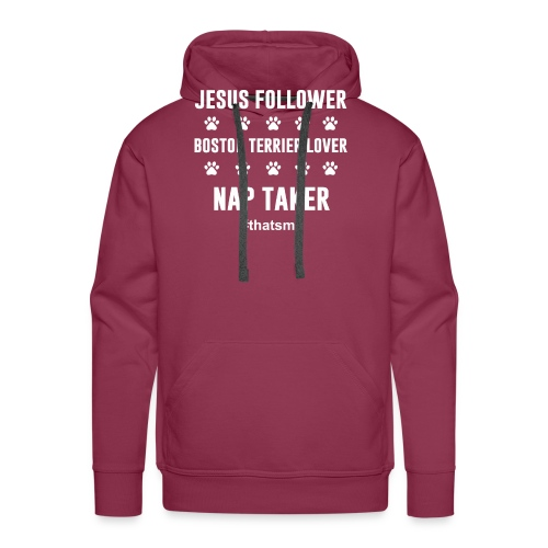 Jesus follower boston terrier lover nap taker - Men's Premium Hoodie