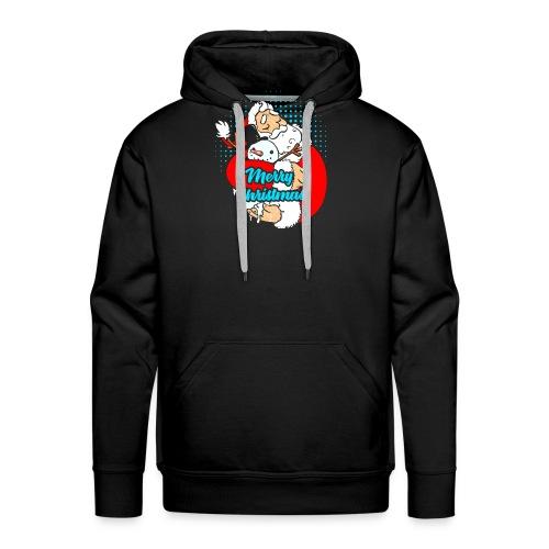 Weihnachtsmann der Schneemann umarmt - Männer Premium Hoodie
