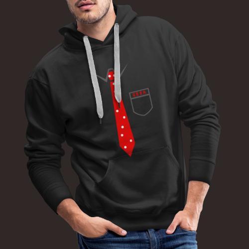 Geek | Schlips Krawatte Wissenschaft Streber - Männer Premium Hoodie
