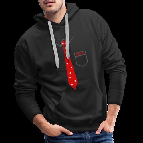 Geek   Schlips Krawatte Wissenschaft Streber - Männer Premium Hoodie