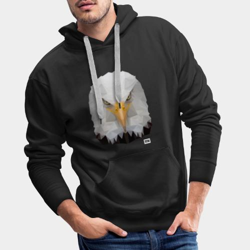Eagle of Triangles white logo - Men's Premium Hoodie