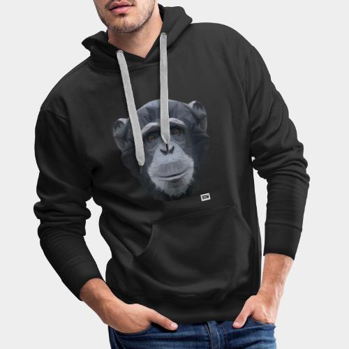 Chimpansee of Triangles white logo - Men's Premium Hoodie