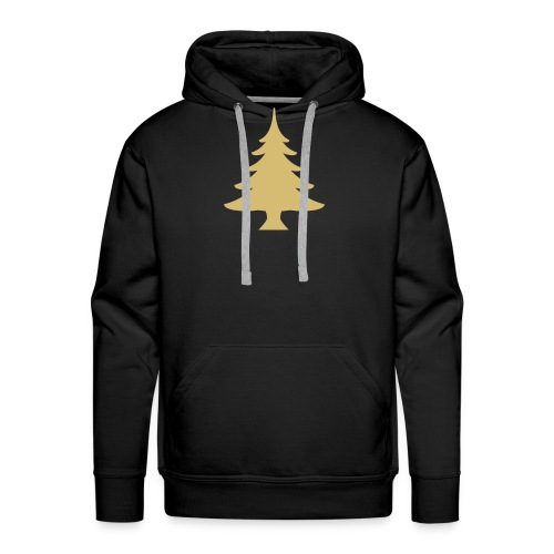 Weihnachtsbaum Christmas Tree Gold - Sudadera con capucha premium para hombre
