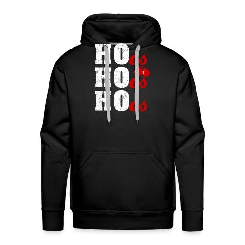 Ho Ho Ho Weihnachtsmann Wortspiel Lustig - Männer Premium Hoodie