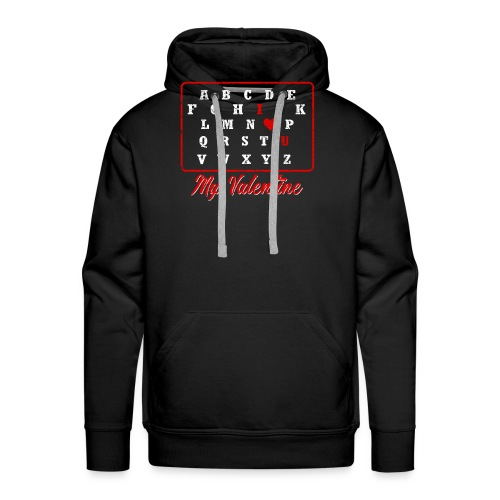 I love you my Valentine - Männer Premium Hoodie