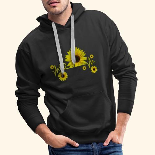 Sonnenblumen, Sonnenblume, Herzschlag, Herz, Blume - Männer Premium Hoodie