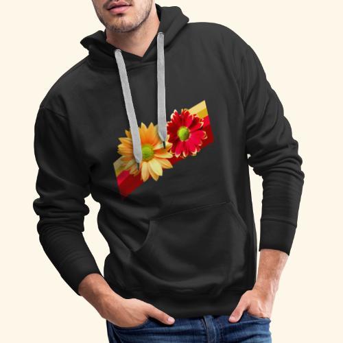 Blumen in den Farben rot und gelb, Blüten, floral - Männer Premium Hoodie