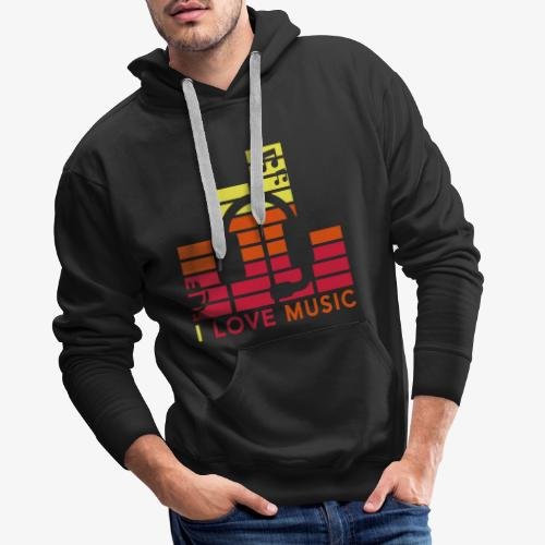 I love music Illustration Gig Band Musik Godigart - Männer Premium Hoodie