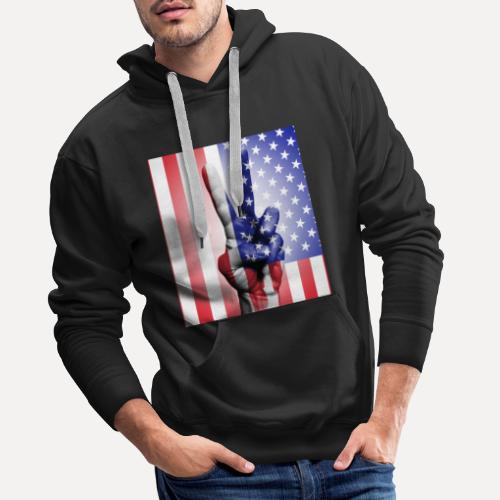 Stars Stripes & Peace - Men's Premium Hoodie