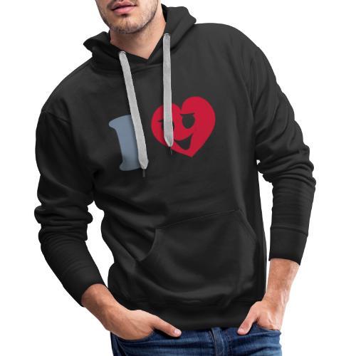 ilove_smiley_face - Mannen Premium hoodie