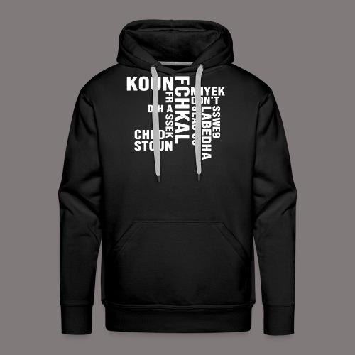 KOUN FCHKAL Blanc - Sweat-shirt à capuche Premium pour hommes