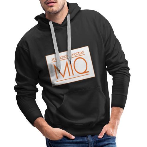 MIQ - STOCKHOLMSNATTEN Singel Cover Logotype - Premiumluvtröja herr