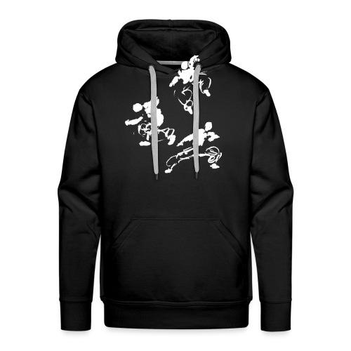 Kung fu circle / ink fighter in motion - Men's Premium Hoodie