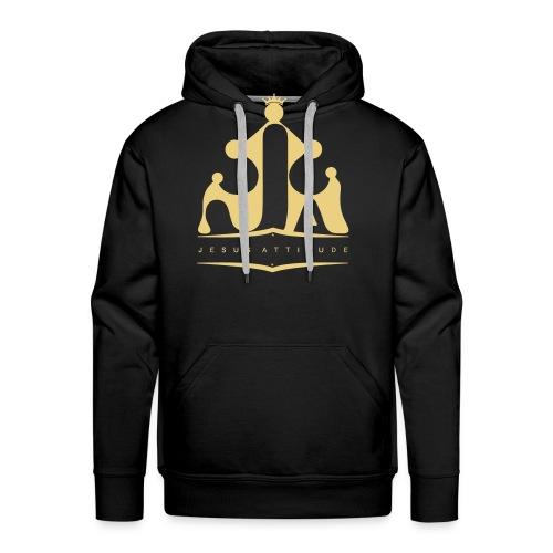 Logo Jesus Attitude - Sweat-shirt à capuche Premium pour hommes