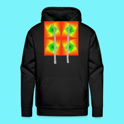 Pursuit curves in red and green - Men's Premium Hoodie