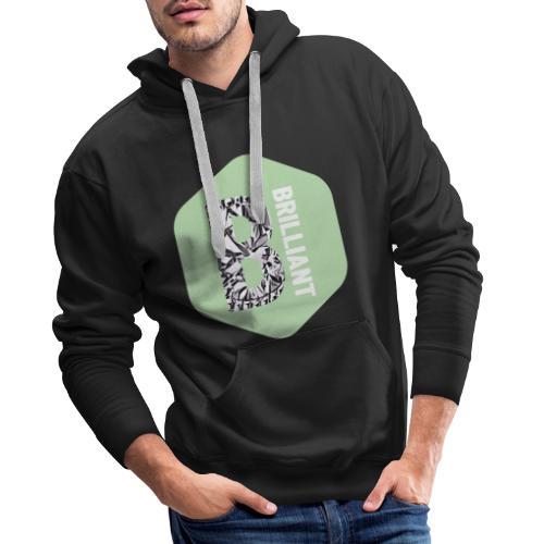 B brilliant green - Mannen Premium hoodie