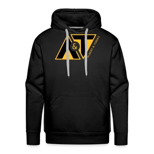 A & T - logo - S/H - Herre Premium hættetrøje