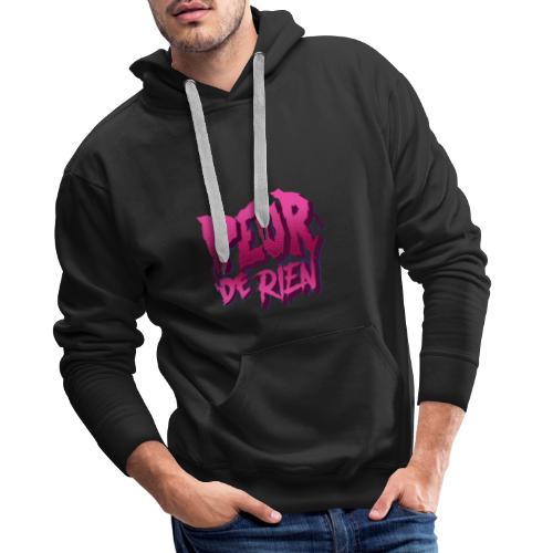 LOGO PEUR DE RIEN - Sweat-shirt à capuche Premium pour hommes