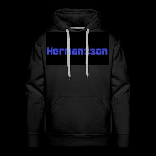 Hermansson Blå/Svart - Premiumluvtröja herr