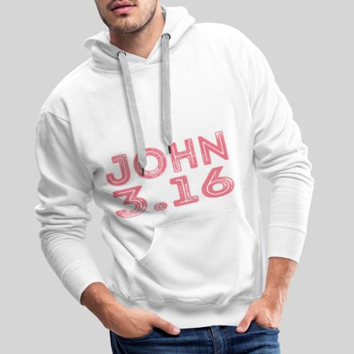 Johannes 3 Vers 16 Bibelversdesign - Männer Premium Hoodie