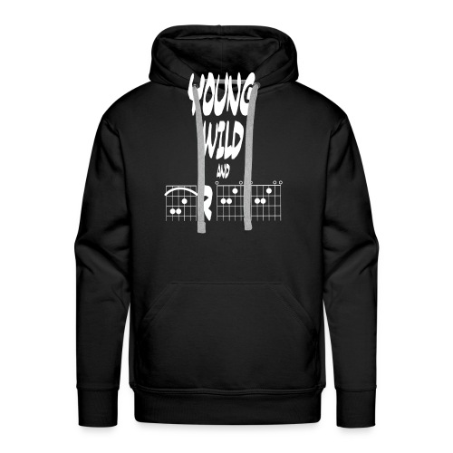 Young wild and free in guitar chords - Men's Premium Hoodie