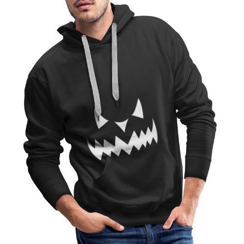 Pumpkin Face Halloween white - Männer Premium Hoodie