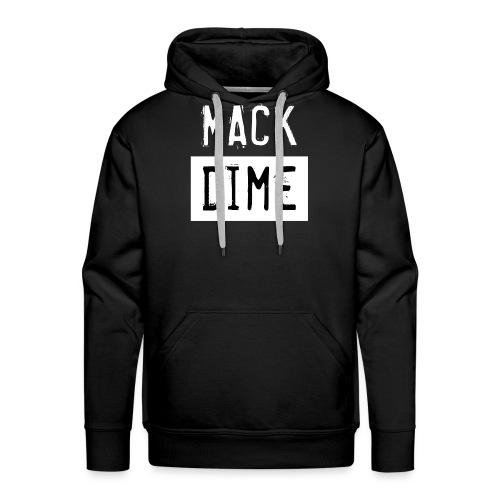 Mack Dime zw wit - Mannen Premium hoodie