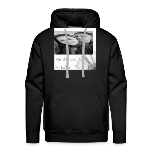 Vie d'amour - Sweat-shirt à capuche Premium pour hommes
