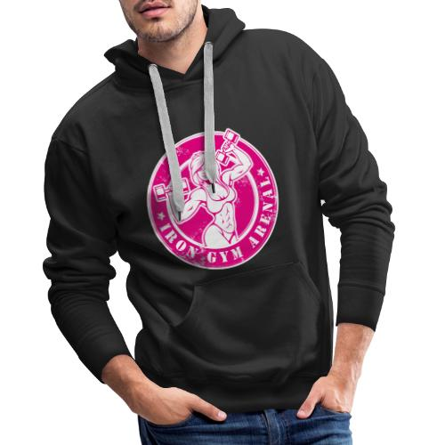 shirt 1 pink - Sudadera con capucha premium para hombre