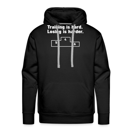 Training vs losing - Men's Premium Hoodie