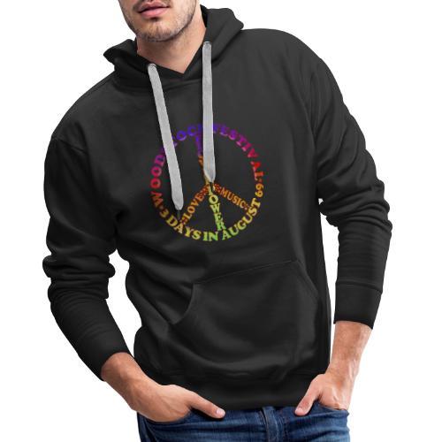 Peacezeichen FlowerPower - Männer Premium Hoodie